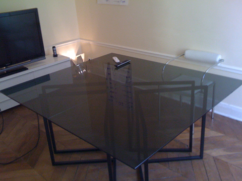 plaque de verre sur mesure pour table basse paris table. Black Bedroom Furniture Sets. Home Design Ideas