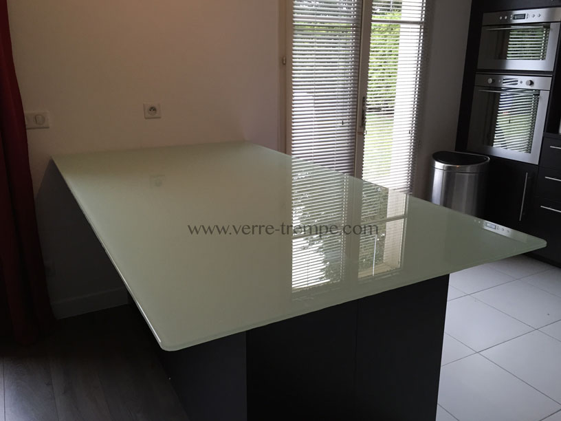 Protection de table en verre tremp verre tremp sur mesure - Verre trempe pour table ...