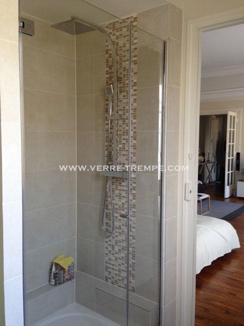 Pare douche en verre tremp sur mesure verre tremp sur - Porte douche sur mesure ...
