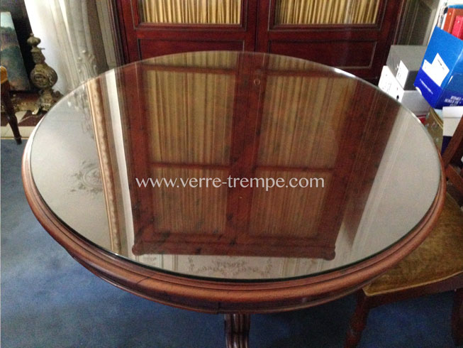Protection de table a manger en verre trempe verre tremp sur mesure - Table a manger en verre trempe ...