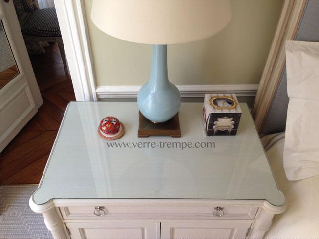 Protection de table en verre tremp verre tremp sur mesure - Verre securit pour table ...