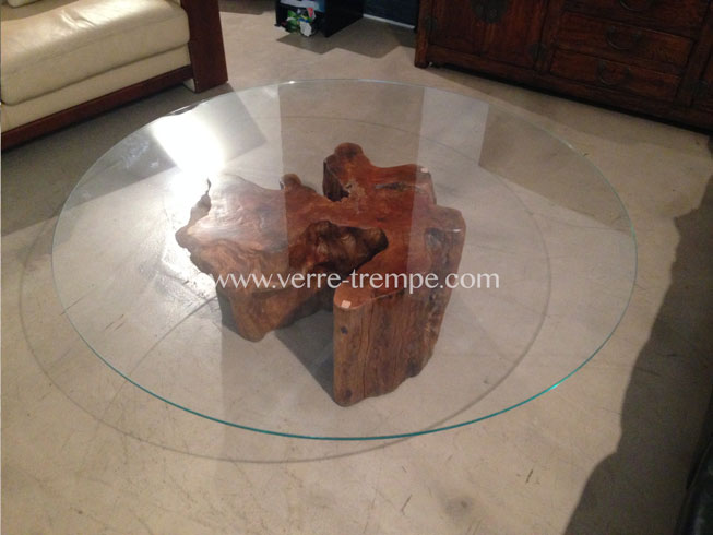 Protection de table en verre tremp verre tremp sur mesure - Table en verre trempe ...