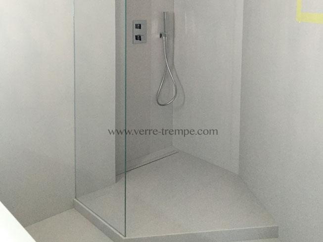 Verre tremp extra clair sur mesure verre tremp sur mesure - Credence pour douche ...