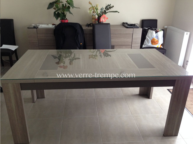 Verre tremp sur mesure prix verre tremp sur mesure for Table de salon transparente