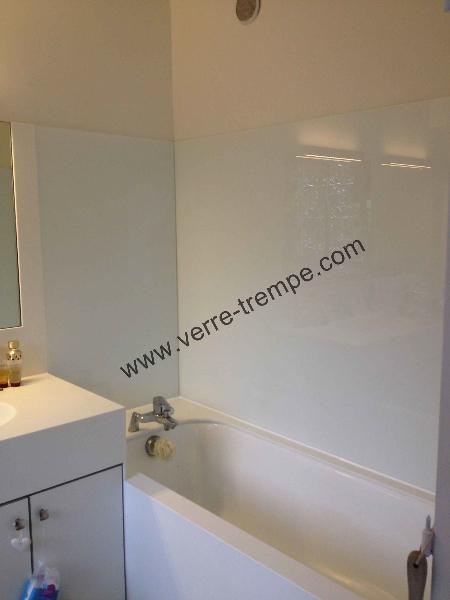Cr dence de baignoire en verre verre tremp sur mesure - Credence salle de bain ikea ...
